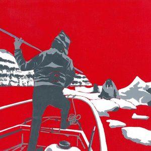 rouge banquise - groenland - peintures de Nathalie Kopp